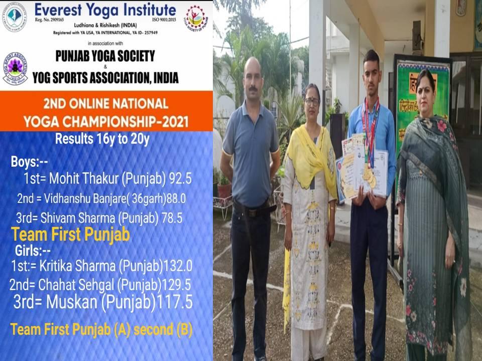 BVM USN Yoga genius wins Bronze Medal